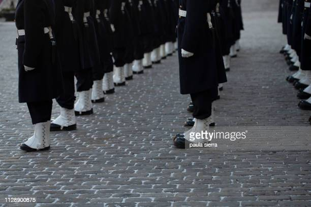 royal guards ceremony - the stockholm palace stock pictures, royalty-free photos & images