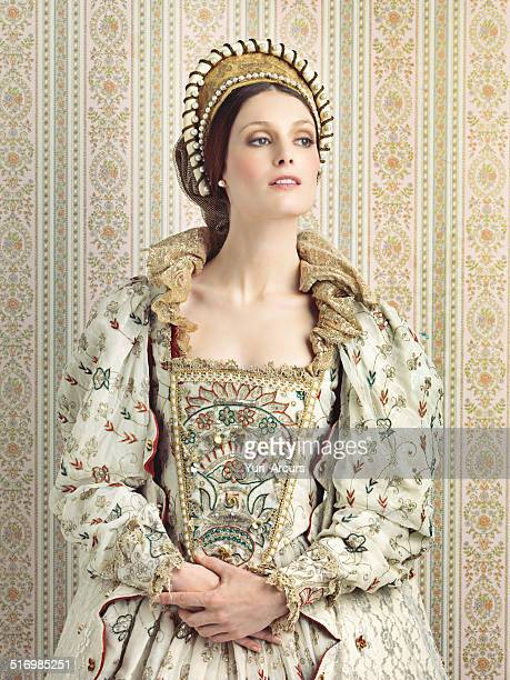 royal haughtiness - elizabethan style stock photos and pictures