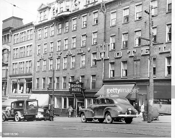 Royal Hotel on main shopping street in Saint John New Brunswick Canada 1955