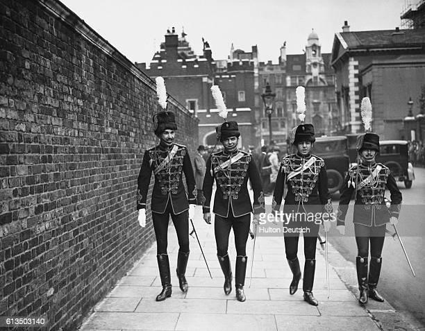 Royal Hussars Walking Near St James's Palace