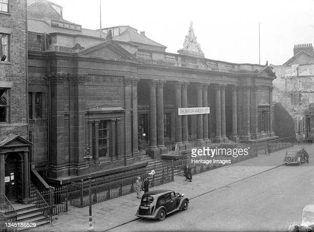 Royal Institute Museum, Albion Street, City of Kingston upon Hull, 1941. An exterior view of the Royal Institute Museum, built in 1852 by Cuthbert...