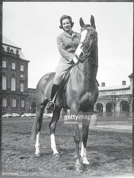 Royal Interest Copenhagen Denmark Sitting high in the saddle Princess Benedikte poses for an official photo released for her 18th birthday April 29...