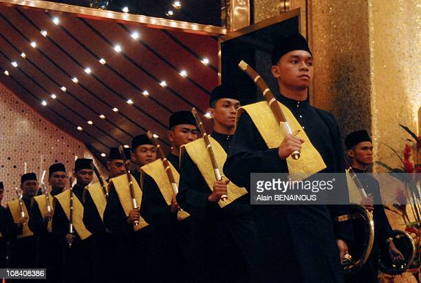 Royal Istiadat Berbedak Ceremony at the royal Palace Istana Iman Yang Mulia Penigran Khairul Khalil during the Friday Mosque Ceremony at the Sultan...