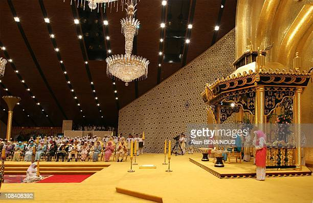 Royal Istiadat Berbedak Ceremony at the royal Palace Istana Iman Yang Mulia Penigran Khairul Khalil during the Friday Mosque Ceremony at the Sultan...
