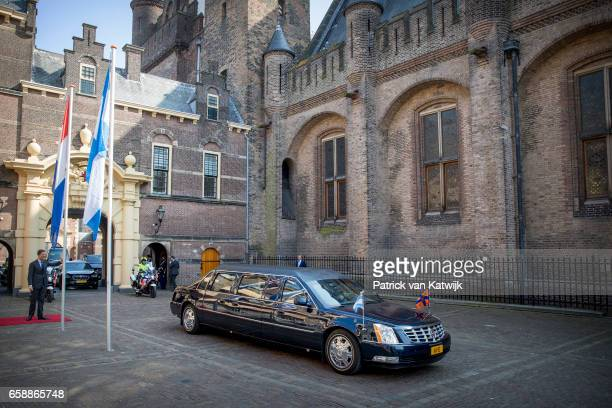 Royal limousine King WillemAlexander and Queen Maxima of The Netherlands and President Mauricio Macri and his wife Juliana Awada of Argentine visit...