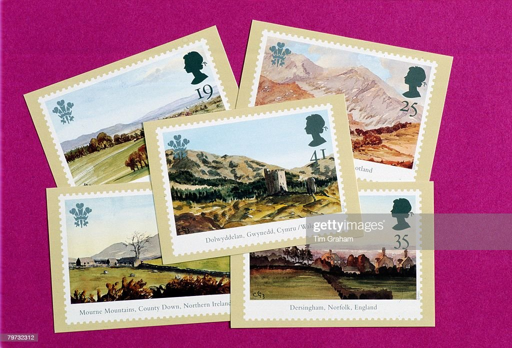 Royal Mail stamps marking the 25th anniversary of the Prince : News Photo