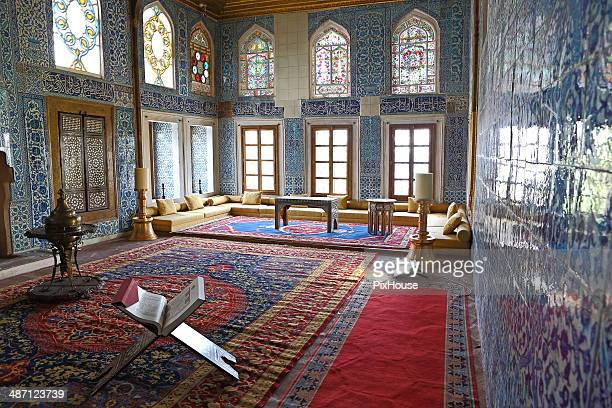 royal mansion interior - ottoman empire stock photos and pictures