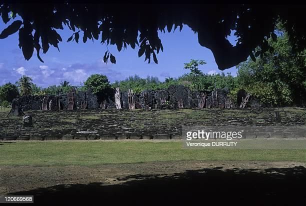 """Royal Marae of Taputapuatea in Raiatea island, Society archipelago, French Polynesia - Raiatea itself is recognized throughout Tahiti as its """"Sacred..."""