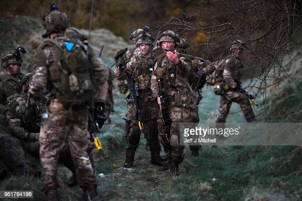 Royal Marines take part in raid during Exercise Joint Warrior on April 27 2018 in DalbeattieScotland The exercise is involving some 11600 military...
