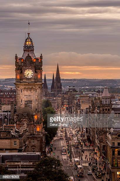 Royal Mile and clock tower
