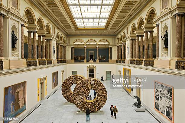 Royal Museums of Fine Arts, the Forum with sculptures by Javier Marin
