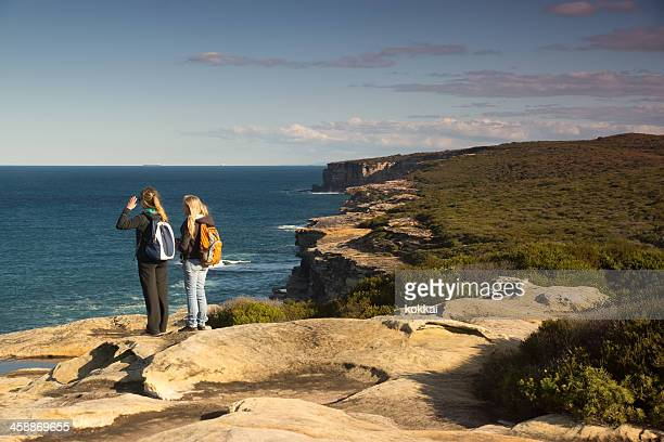 royal national park coastal walk - royal stock photos and pictures