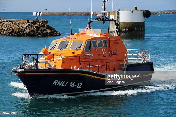 Royal Naval Barca di salvataggio Institute salutano vaso, U. K.