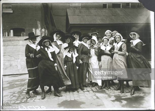 Royal Naval Military Tournament at Olympia Puritan maids Old English villagers Olympia