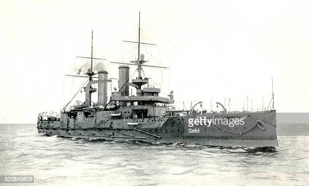 WWI 1914 1918 Royal Navy A monument of arbitration HMS Triumph HMS Triumph was the second of the two Swiftsureclass predreadnought battleships of the...