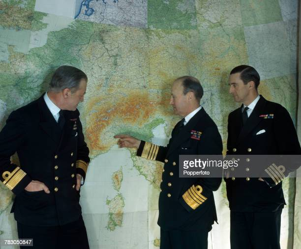 Royal Navy Admiral Bertram Ramsay recently appointed as Allied Naval CommanderinChief of the Naval Expeditionary Force under General Eisenhower...