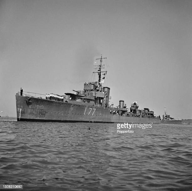 Royal Navy W-class destroyer HMS Whitshed on convoy escort duty off the English coast during World War II on 15th July 1941.