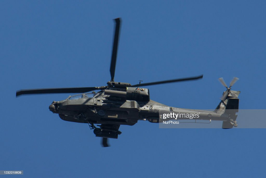 Royal Netherlands Air Force AH64 Apache Helicopter : News Photo