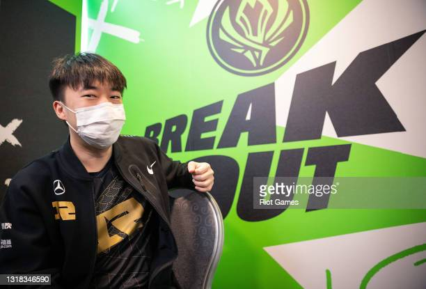 """Royal Never Give Up's Li """"Xiaohu"""" Yuan-Hao at the 2021 MSI annual League of Legends Rumble Stage: Day 3 on May 16, 2021 in Reykjavik, Iceland."""