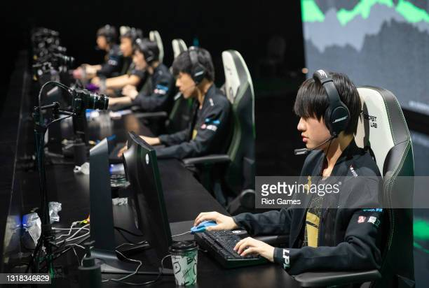 """Royal Never Give Up's Shi """"Ming"""" Sen-Ming at the 2021 MSI annual League of Legends Rumble Stage: Day 3 on May 16, 2021 in Reykjavik, Iceland."""
