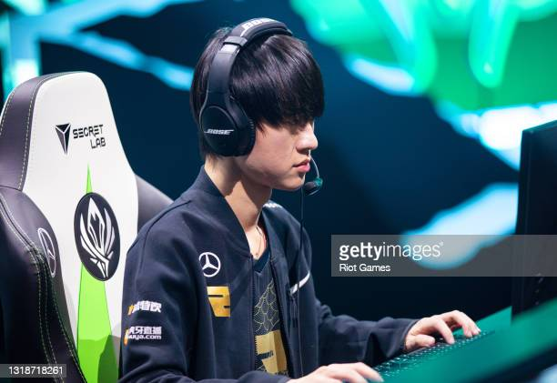 """Royal Never Give Up's Shi """"Ming"""" Sen-Ming at the 2021 MSI annual League of Legends Rumble Stage: Day 5 on May 18, 2021 in Reykjavik, Iceland."""