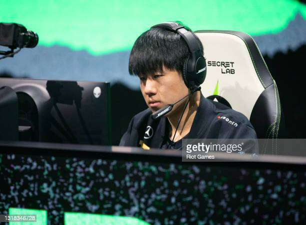 """Royal Never Give Up's Wei """"GALA"""" Chen at the 2021 MSI annual League of Legends Rumble Stage: Day 3 on May 16, 2021 in Reykjavik, Iceland."""