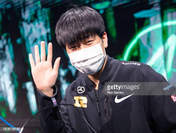 """Royal Never Give Up's Wei """"GALA"""" Chen at the 2021 MSI annual League of Legends Rumble Stage: Day 5 on May 18, 2021 in Reykjavik, Iceland."""