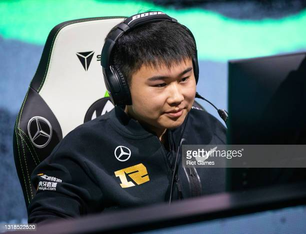 """Royal Never Give Up's Yan """"Wei"""" Yang-Wei at the 2021 MSI annual League of Legends Rumble Stage: Day 4 on May 17, 2021 in Reykjavik, Iceland."""