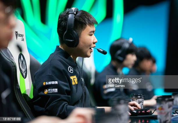 """Royal Never Give Up's Yan """"Wei"""" Yang-Wei at the 2021 MSI annual League of Legends Rumble Stage: Day 5 on May 18, 2021 in Reykjavik, Iceland."""
