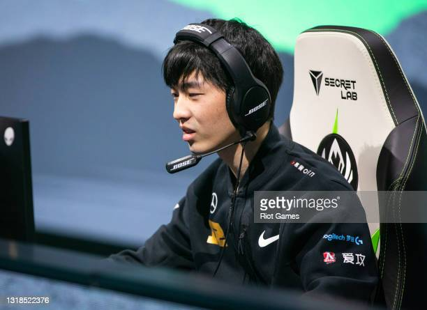 """Royal Never Give Up's Yuan """"Cryin"""" Cheng-Wei at the 2021 MSI annual League of Legends Rumble Stage: Day 4 on May 17, 2021 in Reykjavik, Iceland."""