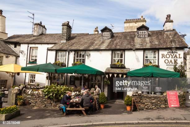 Royal Oak Public House, Church Street and Main Street, Ambleside, Lake District, Cumbria, England