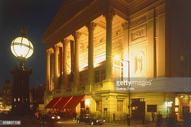 Royal Opera house in London at night