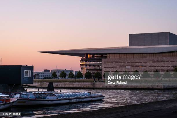 royal opera in copenhagen in the sunset - dorte fjalland stock pictures, royalty-free photos & images