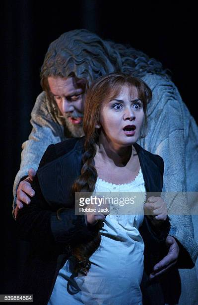 royal opera production of faust in london - royal opera house london stock pictures, royalty-free photos & images