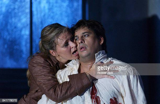 royal opera production of werther in london - royal opera house london stock pictures, royalty-free photos & images