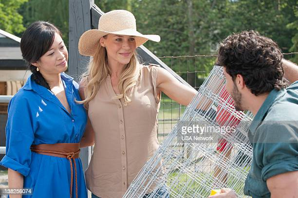 Royal Pains An Apple A Day Episode 6 Pictured Camille Chen as Anna Julie Benz as Elyse Phillip Spaeth as Marco