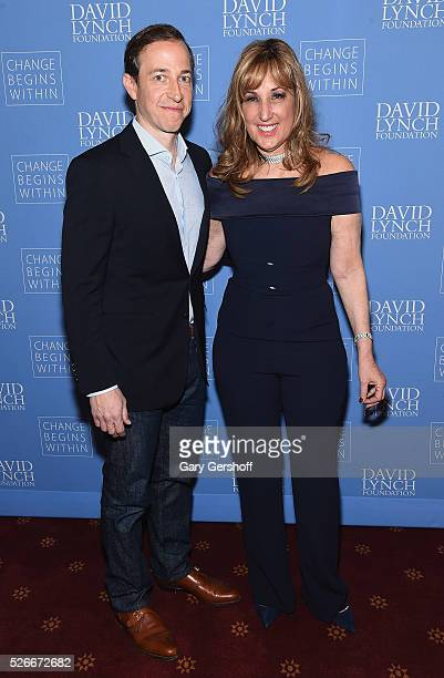 'Royal Pains' Executive Producer Michael Rauch and Board Member David Lynch Foundation Joanna Plafsky attend 'An Amazing Night of Comedy A David...