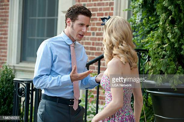 Royal Pains Frenemies Pictured Paulo Costanzo as Evan Lawson Brooke D'Orsay as Paige Collins