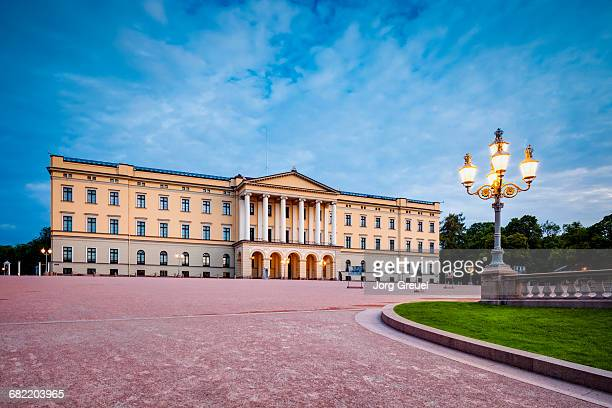 royal palace at dawn - palace stock pictures, royalty-free photos & images