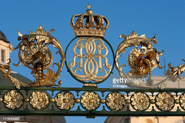 royal palace at drottningholm - drottningholm palace stock pictures, royalty-free photos & images