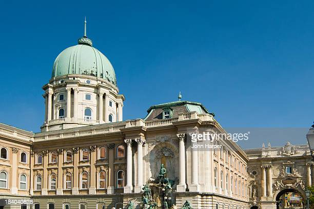 royal palace, budapest, hungary - royal palace budapest stock pictures, royalty-free photos & images