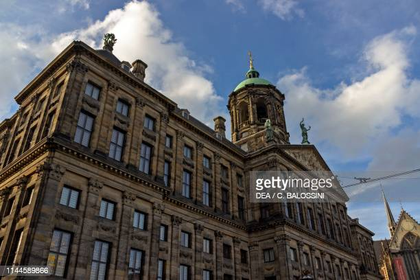 Royal Palace by Jacob van Campen , Dam Square, Amsterdam, Netherlands, 17th century.