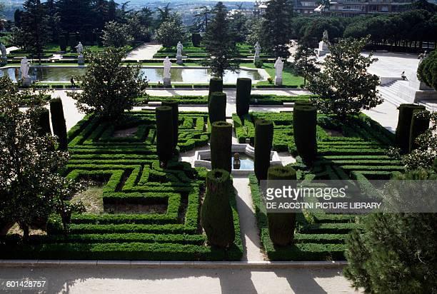 Royal Palace Gardens, Madrid, Spain.