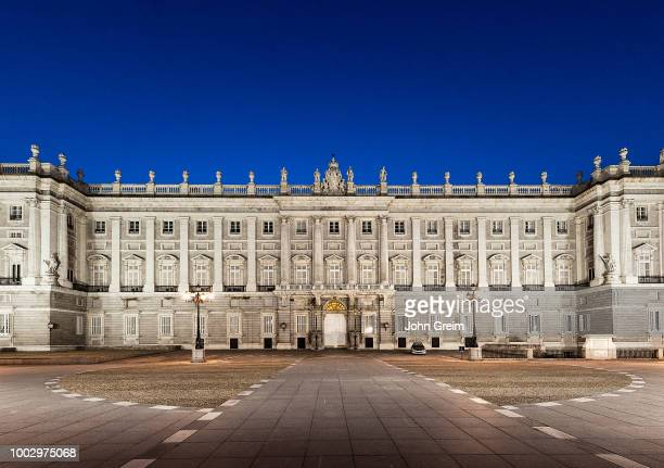 Royal Palace in Madrid at night