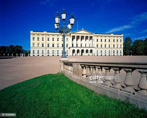 royal palace in oslo - royal palace oslo stock pictures, royalty-free photos & images