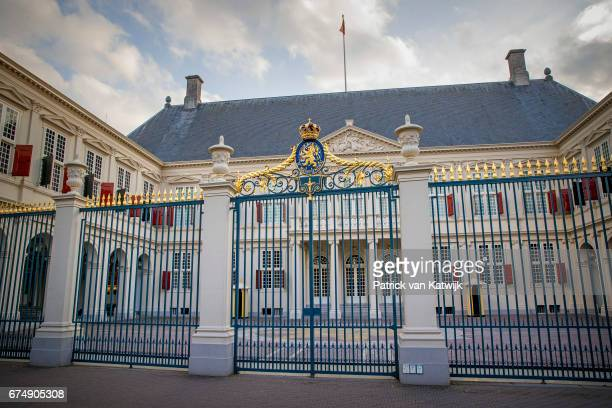 Royal Palace Noordeinde at the evening of the private birthday party of King WillemAlexander that takes place at the Royal Stables in the garden of...