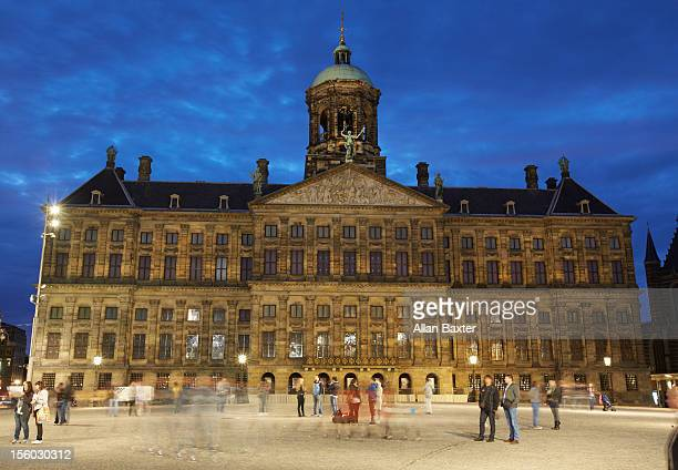 royal palace of amsterdam - royal palace amsterdam stock pictures, royalty-free photos & images