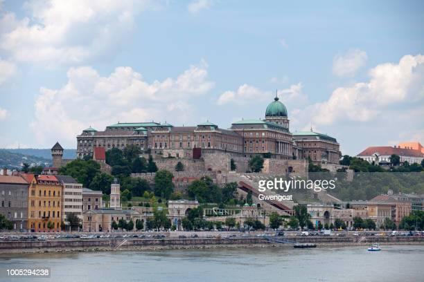 koninklijk paleis van buda in boedapest - gwengoat stockfoto's en -beelden