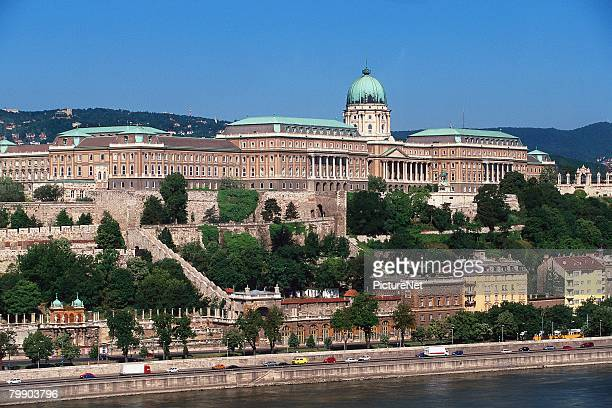 royal palace of budapest - royal palace budapest stock pictures, royalty-free photos & images