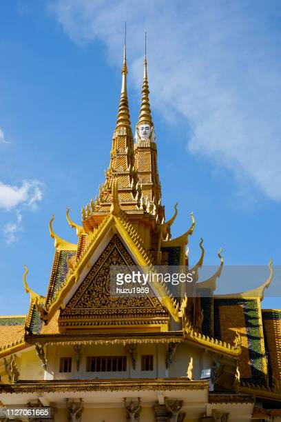 royal palace of phnom penh - phnom penh stock pictures, royalty-free photos & images